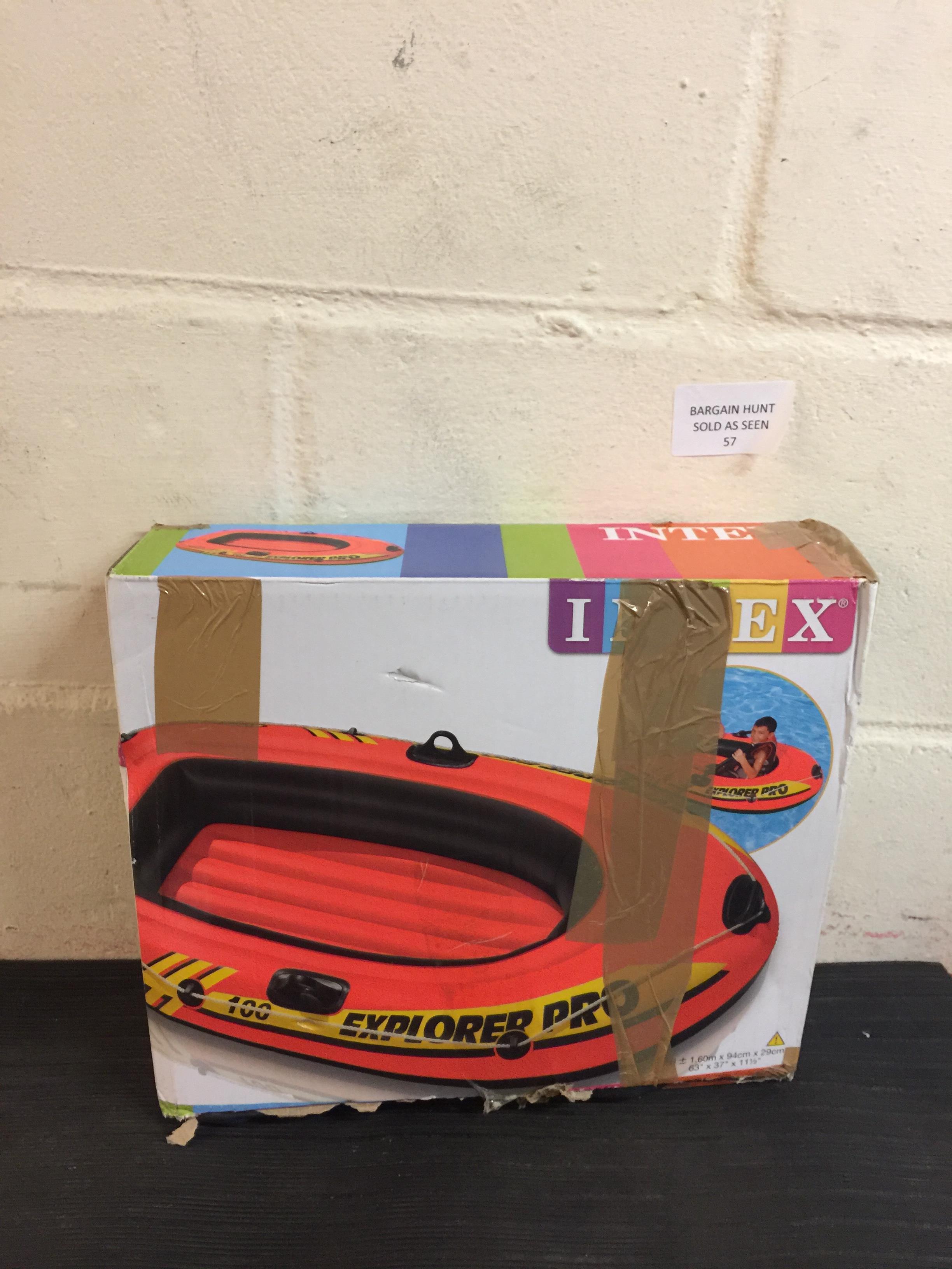 Lot 57 - Intex Explorer Pro Inflatable Boat