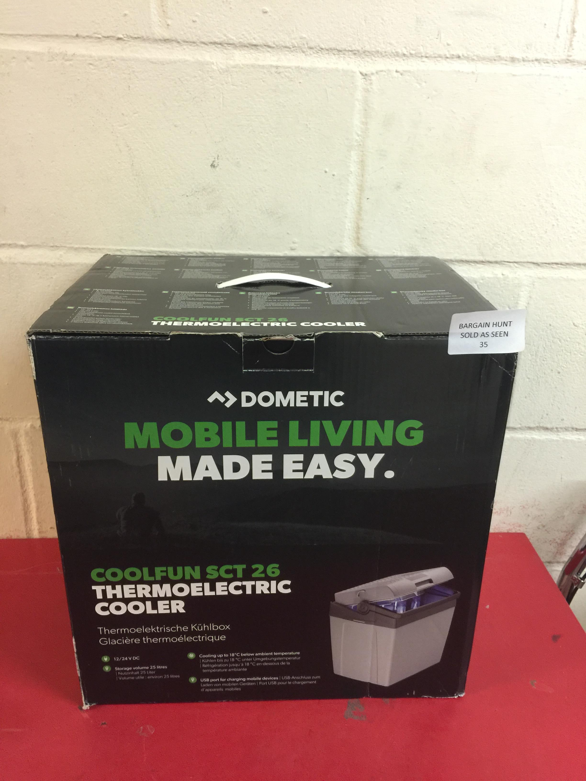 Lot 35 - Dometic CoolFun SC26 Thermo-Electric Cool Box RRP £63.99