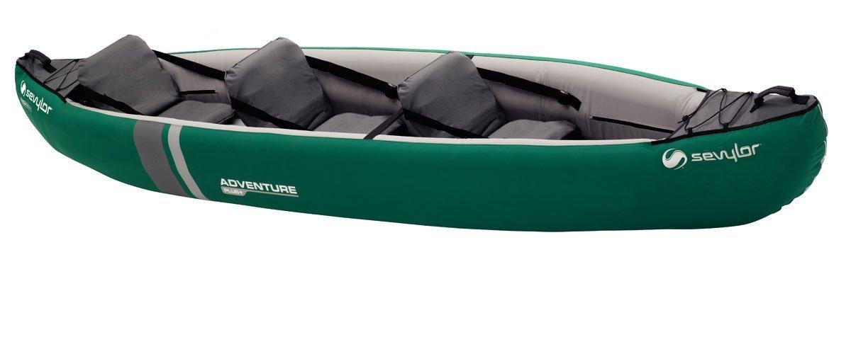 Lot 17 - Sevylor Unisex Adventure Plus 2-3 Man Canadian Canoe Inflatable Sea Kayak RRP £260