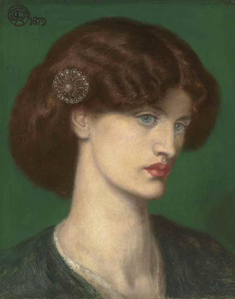 Lot 6 - Dante Gabriel Rossetti (1828-1882) Beatrice: A portrait of Jane Morris signed with monogram and