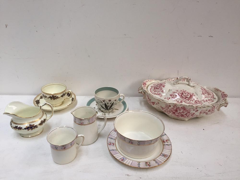 Lot 29 - An A.E Hughes and Co. floral part tea set together with various teawares including James Kent Ltd.