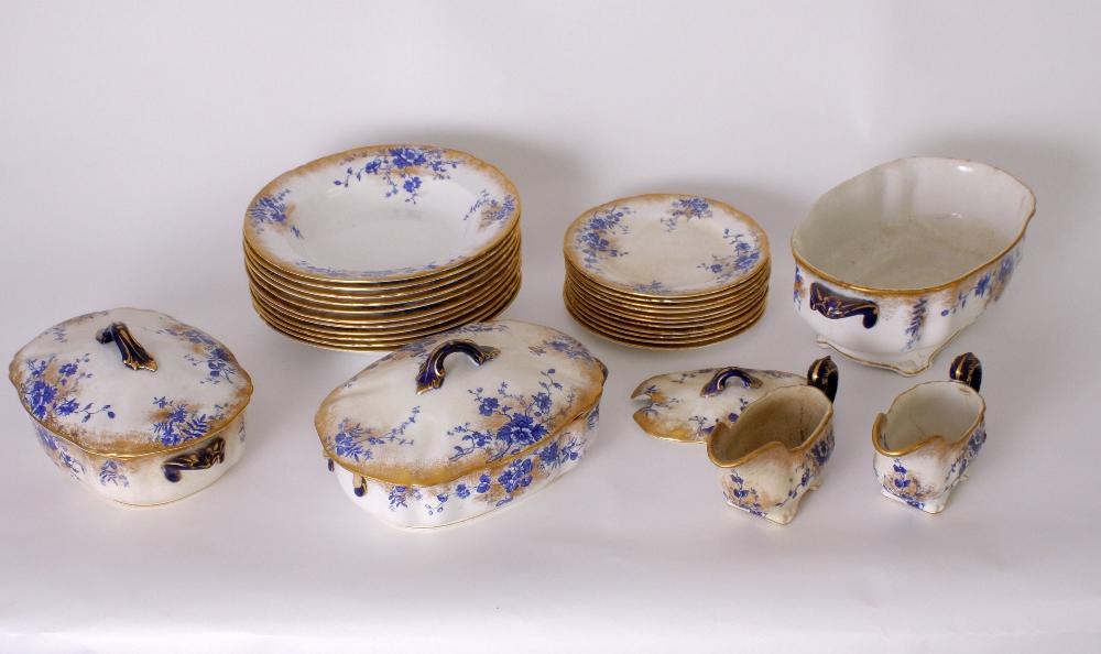 Lot 31 - A Royal Doulton earthenware part dinner service 'Sorrento' pattern, including dinner plates,