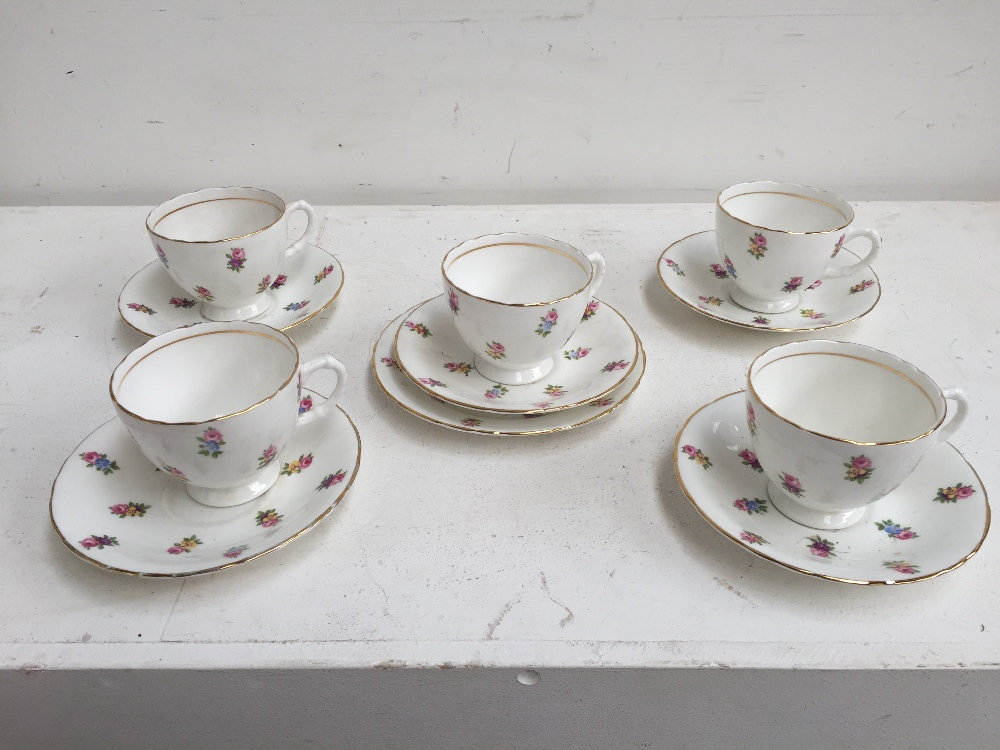 Lot 36A - A selection of Sutherland china with scattered flowers,