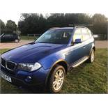 BMW X3 2.0d Special Equipment - 2007 Model - 4x4 - Metallic Blue