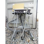 Adec Dental Delivery System cart with electrical hardware box, foot pedal and DCI handpiece.