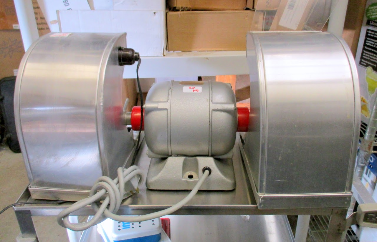 Red Wing Model 26A Dental lathe/grinder with 2 hoods and accessories. 115V 1/4 HP - Image 7 of 7
