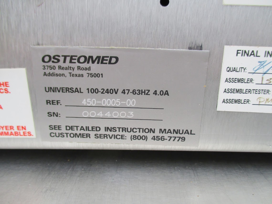 Lot 7 - Osteomed Osteopower 2i Dental Motor model 450-0005-00 with Osteomed Modular Handpiece System. 115V
