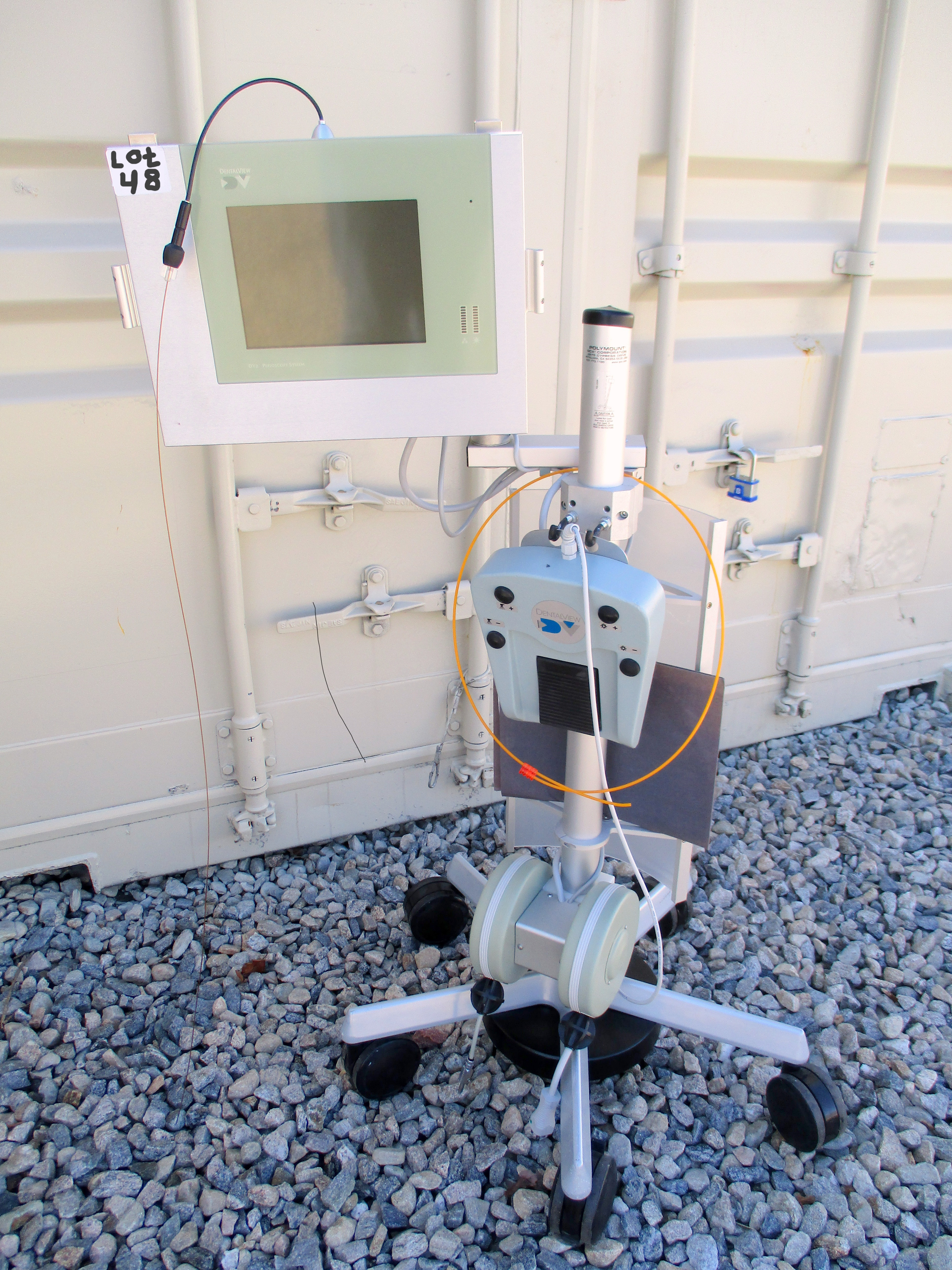 Dental View DV-2 Periscopy Endoscope System on wheeled stand