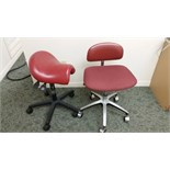 Lot consisting of 2 dental assistant chairs on casters.