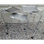 Lot of 3 Medical Stands with (5) trays.