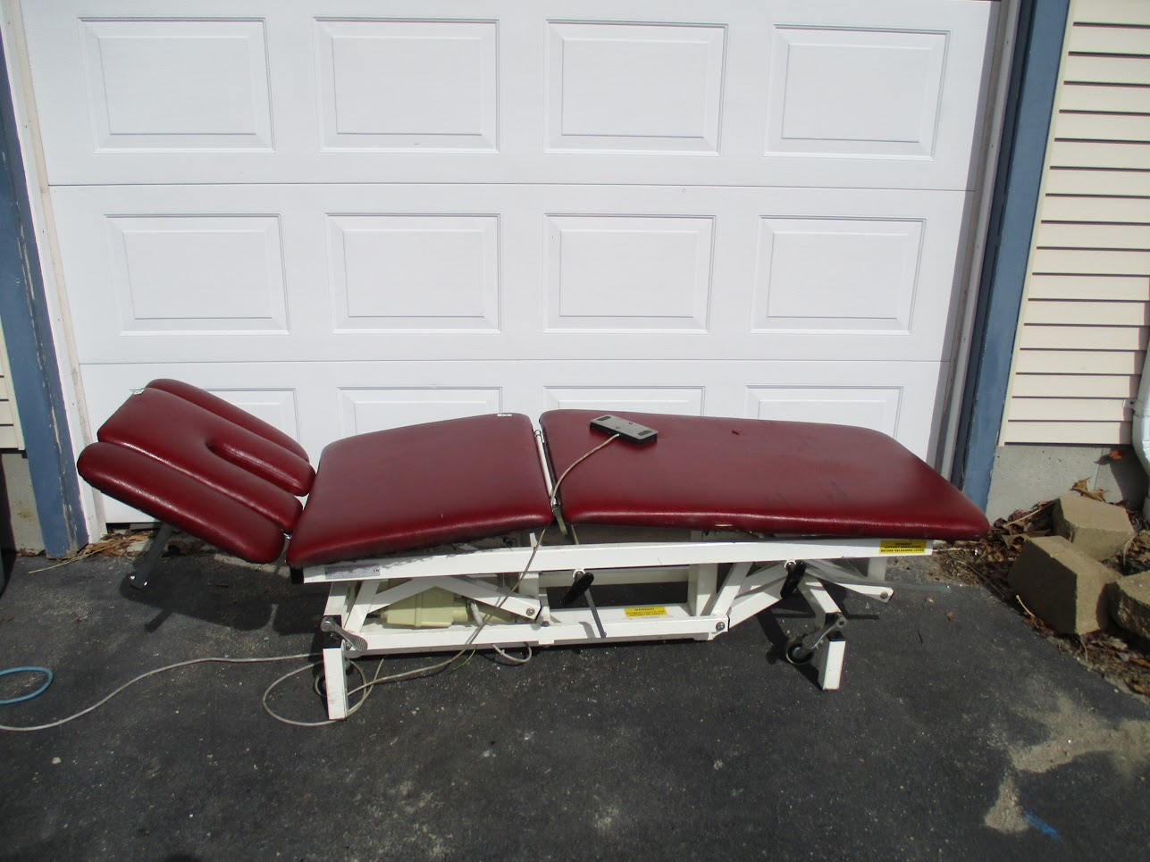 Lot 42 - Akron 8252 Adjustable Electric Physical Therapy Table.