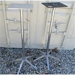Lot of 2 Wheeled medical stands