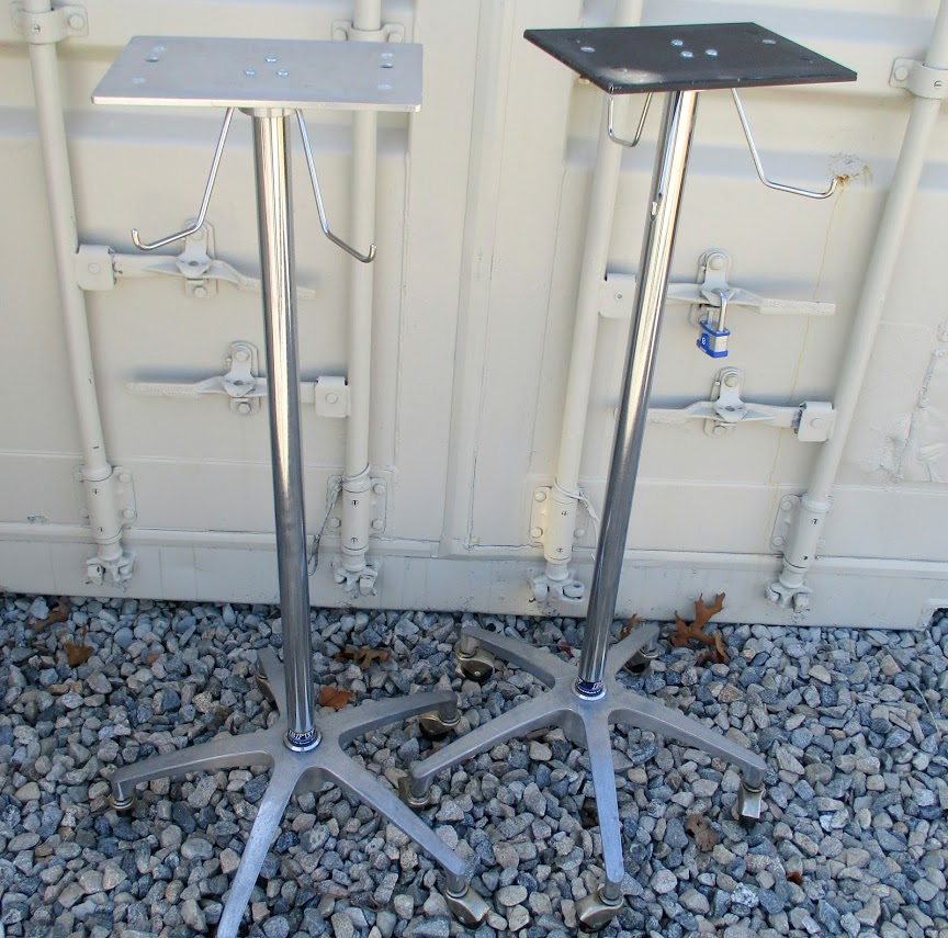 Lot 51 - Lot of 2 Wheeled medical stands