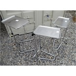 Lot of 3 Medical/surgical stands with trays.