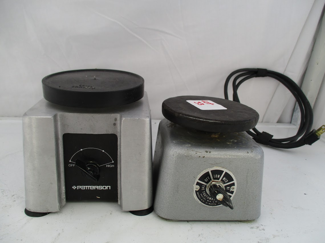 Lot 33 - Patterson Dental Vibrator 150W 120V plus Toothmaster Model 6H Plaster Vibrator 31 watts, 115V