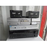 Lot of electronics. Sharp LC-HV4U Liquid Crystal Display, Pioneer SX-201 receiver, (2) Z-Line