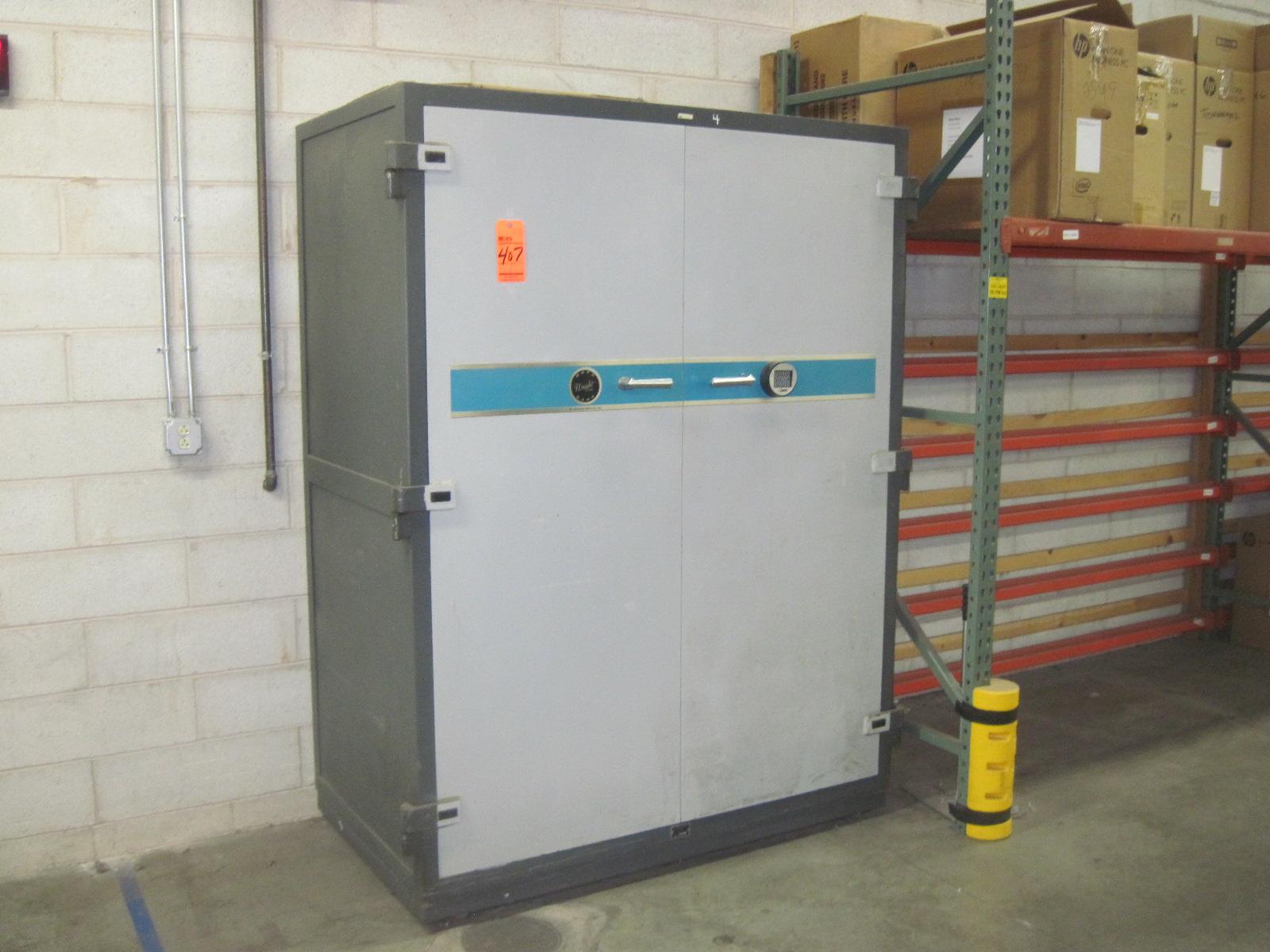 Lot 407   Schwab Safe Co. Wright Line Databank 2 Door Safe With Combination  Keypad