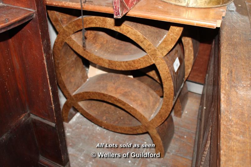 Lot 59 - PAIR OF WALNUT TABLE LEGS, 585 X 710