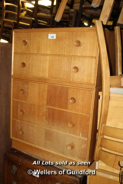 Lot 158 - SIMPLE PINE FIVE DRAWER CHEST OF DRAWERS, 760 X 460 X 1050