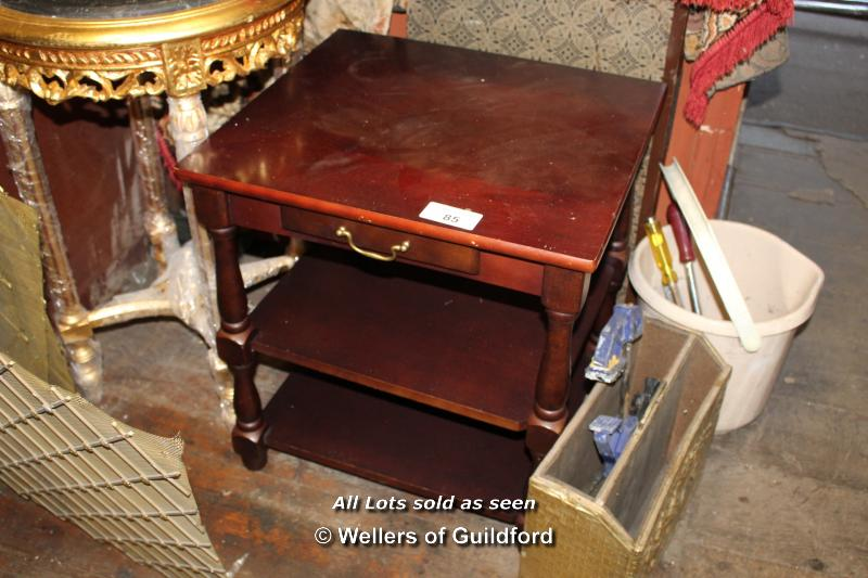 Lot 85 - SMALL SIMPLE MODERN SIDE TABLE WITH DRAWER, 520 X 370 X 450