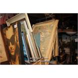 COLLECTION OF APPROX FORTY MIXED FRAMES, PRINTS, PICTURES AND PAINTINGS