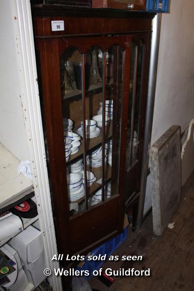 Lot 96 - MAHOGANY GLAZED DISPLAY CABINET WITH THREE SHELVES, 910 X 350 X 1700