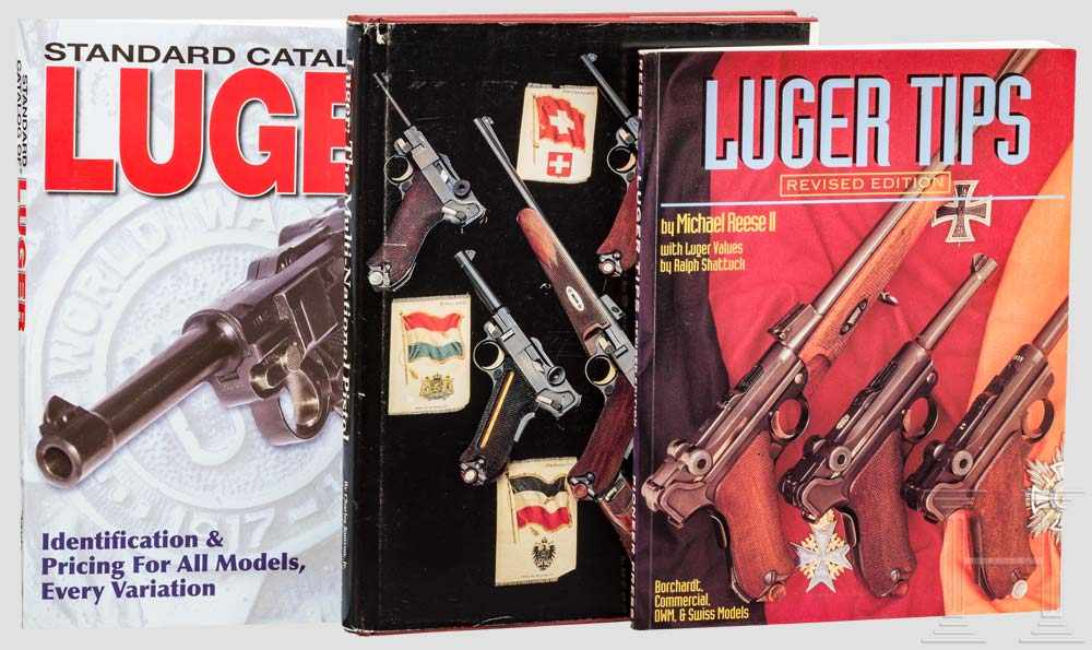 "Lot 14 - Drei Bücher: A. Davis, Ch. Kenyon und M. Reese 1 x Michael Reese II ""Luger Tips with Luger Values"""