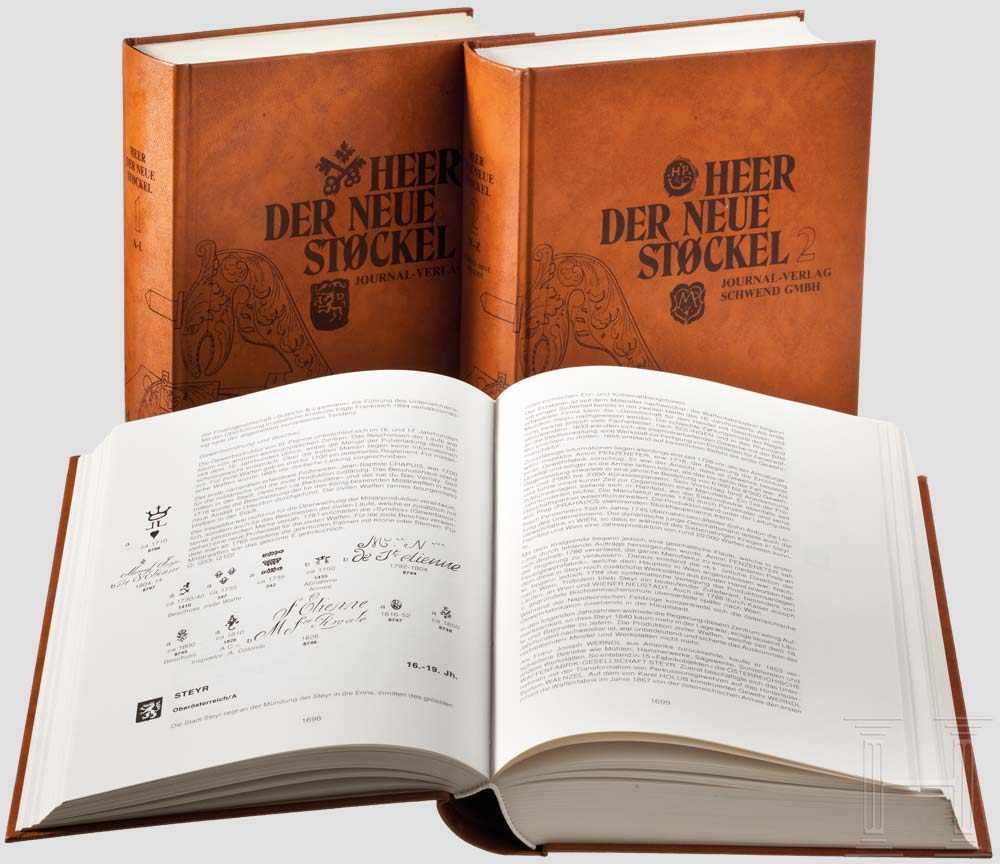 Lot 1 - Eugène Heer, Der neue Stöckel, drei Bände Internationales Lexikon der Büchsenmacher,