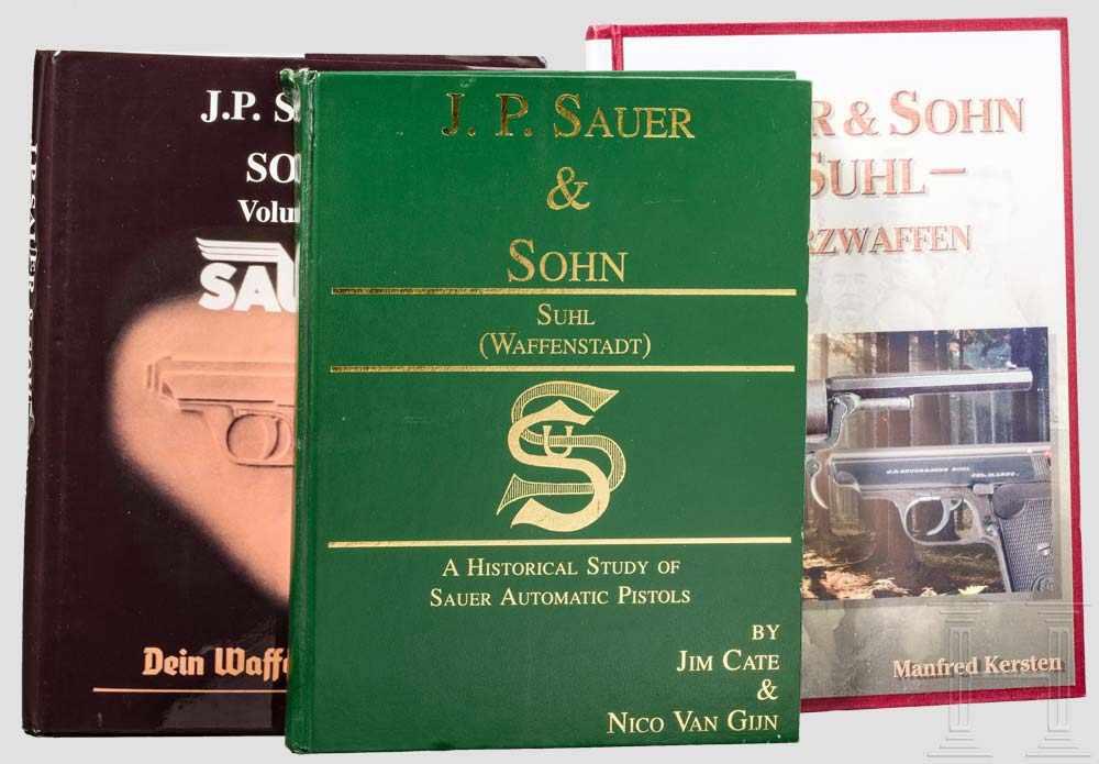 Lot 23 - Drei Bücher: Sauer & Sohn, Kurzwaffen 2 x Jim Cate & Nico van Gijn/Krause: Band I von 1996, mit