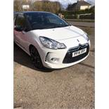 2014/14 REG CITROEN DS3 DSTYLE+ 1.6 PETROL WHITE 3DR HATCHBACK, SHOWING 3 FORMER KEEPERS *NO VAT*
