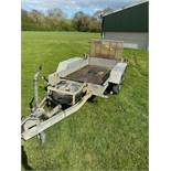 INDESPENSION MINI DIGGER TRAILER, DROP DOWN TAILGATE, SPARE WHEEL, 4' X 8' *PLUS VAT*