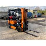 TOYOTA 1.5 TON GAS FORKLIFT, ALL OPERATIONAL, SIDE SHIFT, TIDY LITTLE TRUCK, GAS BOTTLE NOT INCLUDED