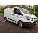 2015/15 REG FORD TRANSIT CUSTOM 290 ECO-TECH 2.2 DIESEL 100 BHP PANEL VAN, SHOWING 0 FORMER KEEPERS