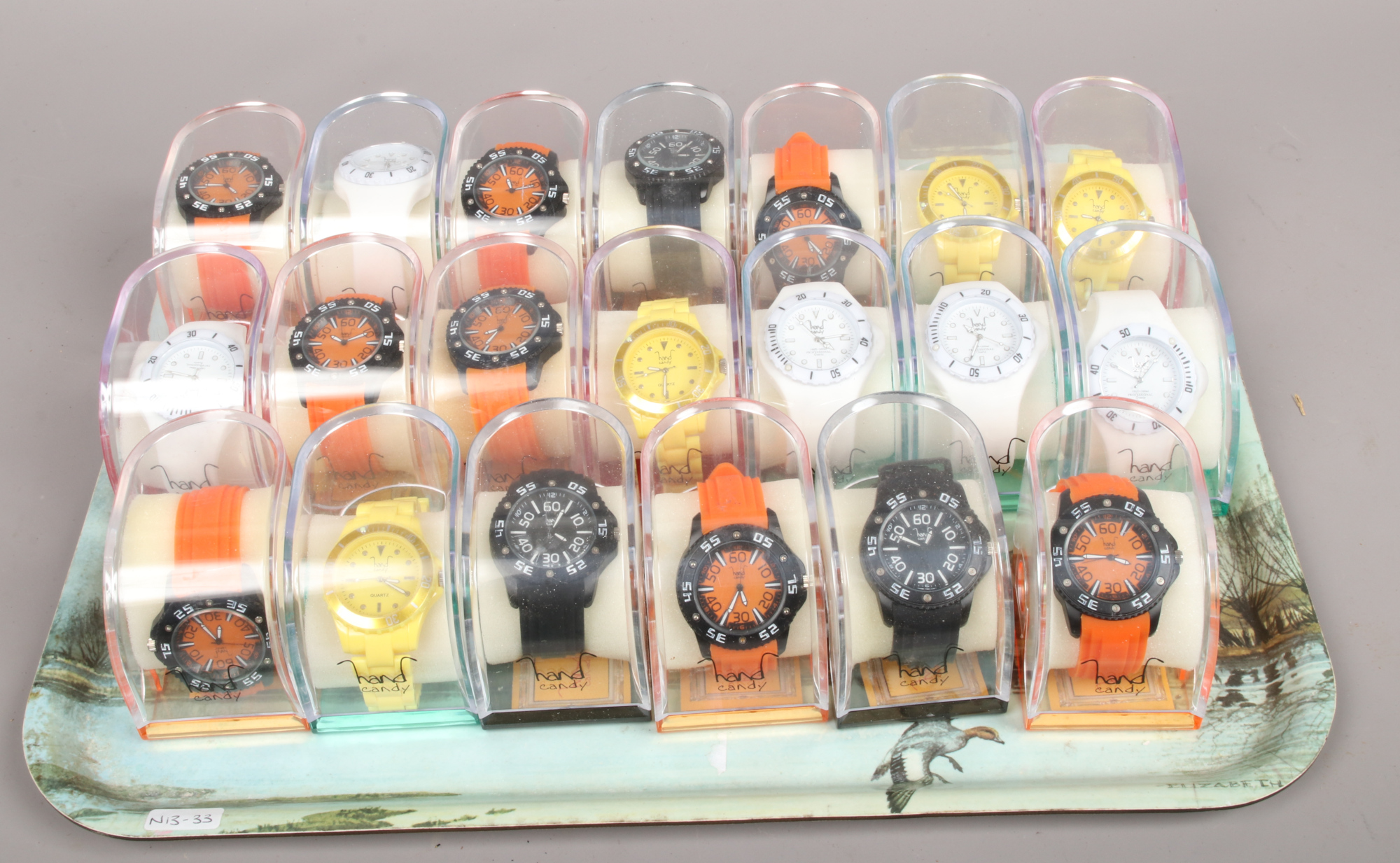 Lot 2 - Twenty cased hand candy quartz wristwatches.