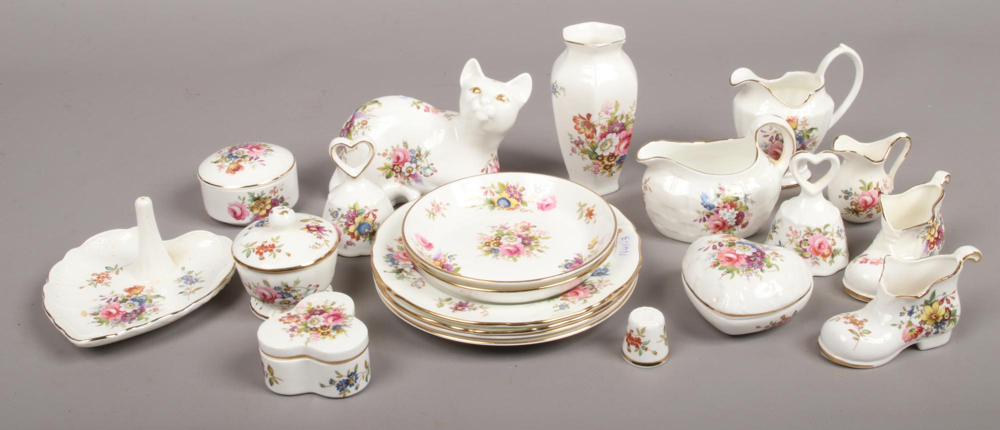 Lot 34 - A quantity of Hammersley bone china ornaments, mostly Howard Sprays design.
