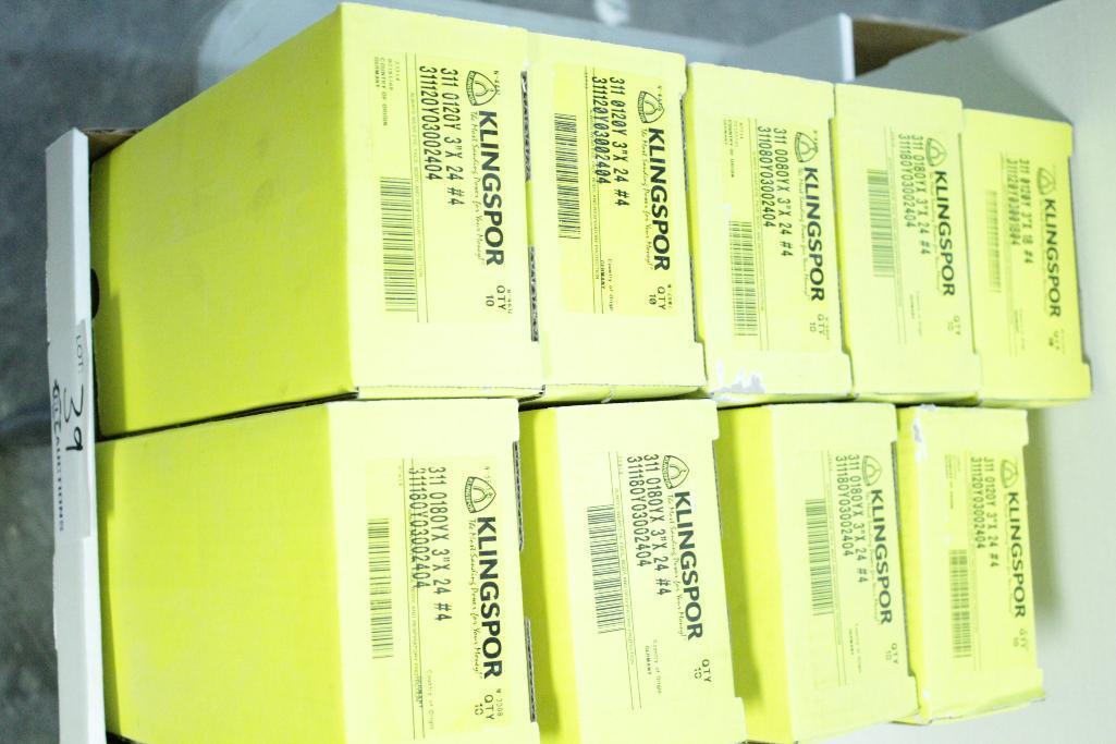 """Lot 39 - Klingspor 3"""" x 24"""" sanding belts"""