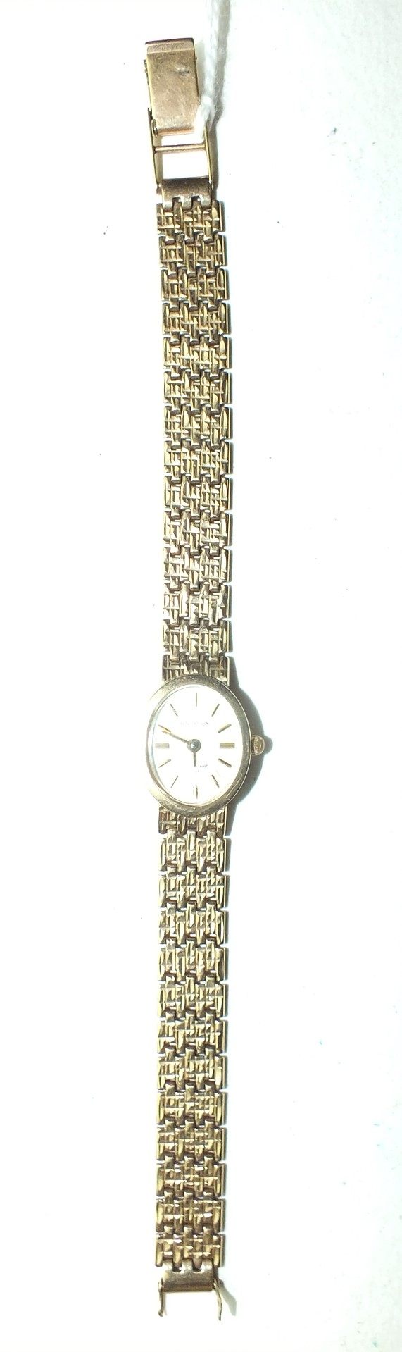 Lot 253 - Sovereign, a ladies 9ct gold wrist watch on 9ct gold bracelet, (clasp a/f), 14.6g, (battery