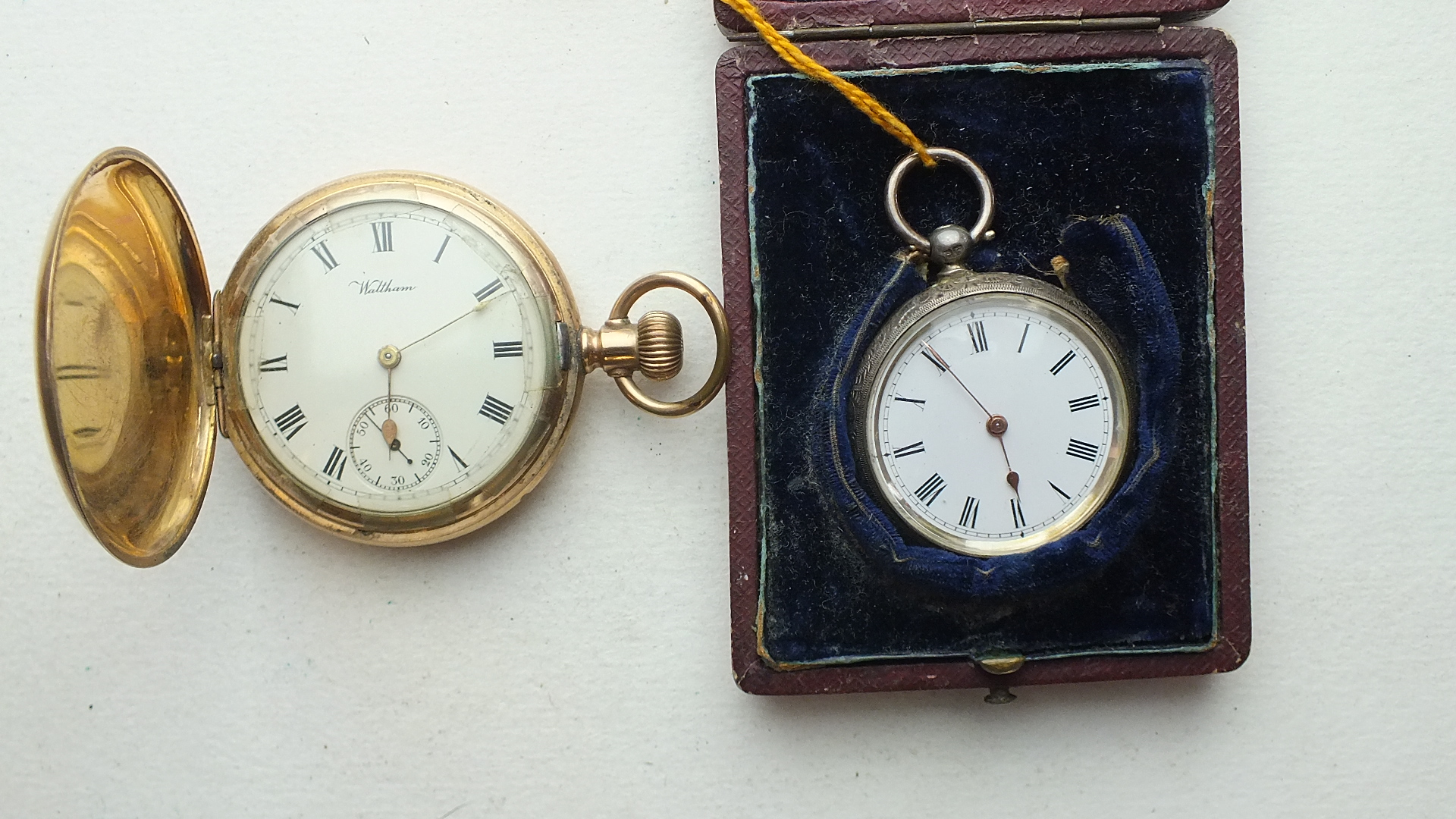Lot 256 - A ladies silver-cased key-wind pocket watch, cased and a gent's gold-plated hunter-cased keyless