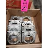 Qty 8 - SF207 bearing housings as pictured.