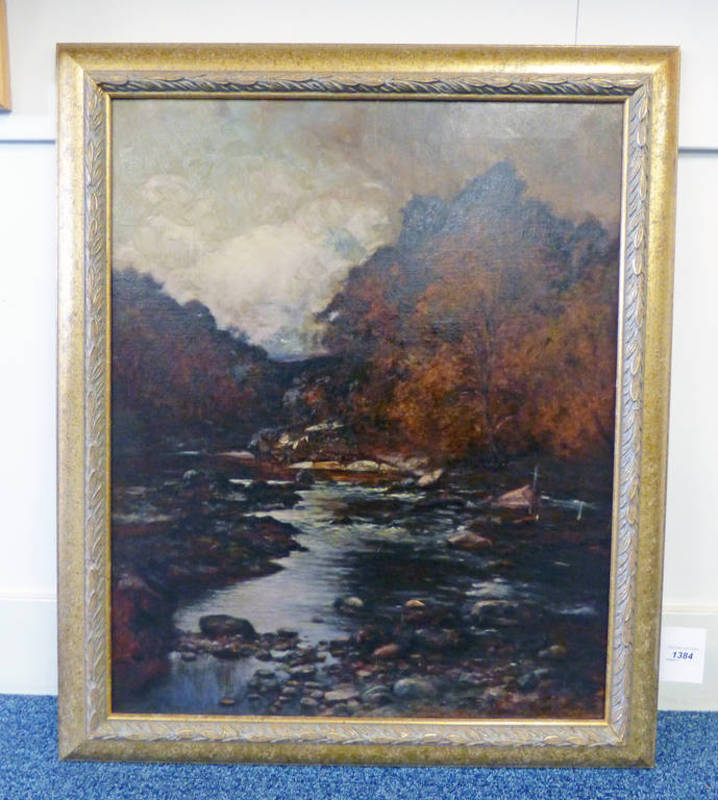 ALLAN RAMSAY, AN AUTUMN DAY, SIGNED, GILT FRAMED OIL PAINTING,