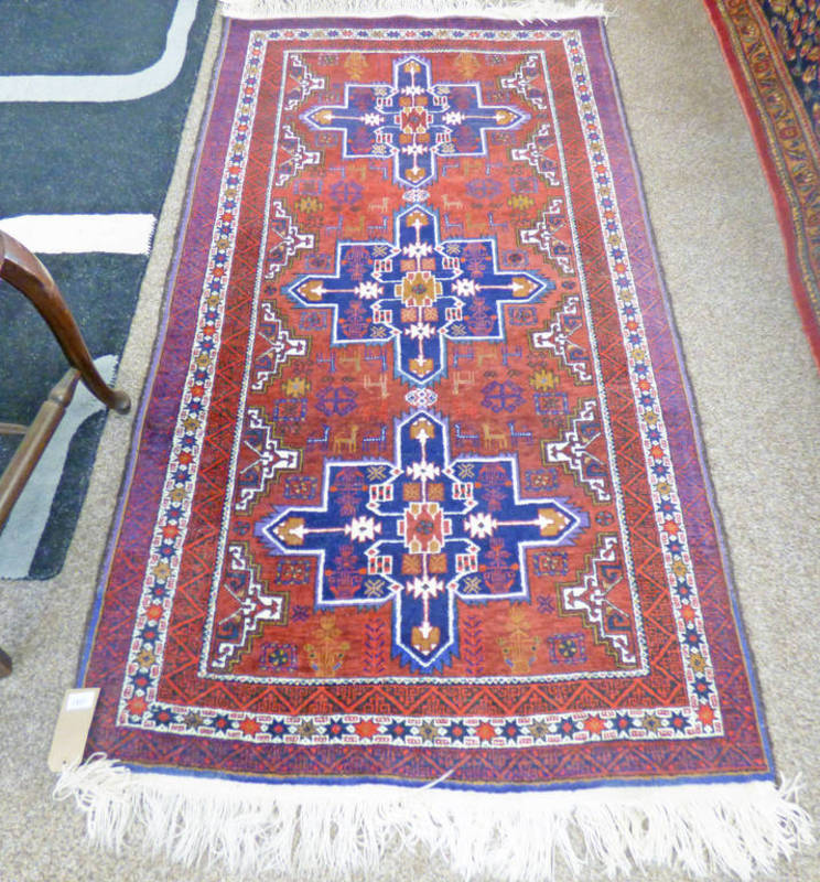 RED GROUND MIDDLE EASTERN RUG 180 X 100CM