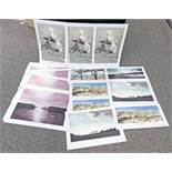 SELECTION OF VARIOUS UNFRAMED SIGNED PRINTS BY MARY-ANNIE BURN TO INCLUDE 'TO THE LONELY SEA AND