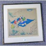 ELYSE ASHE LORD, CHINESE CHILDREN, SIGNED & MARKED CHINESE IN PENCIL,