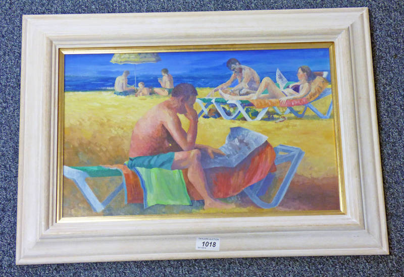 FRAMED OIL PAINTING WITH INSCRIPTION TO REVERSE NEWS FROM HOME DOD DOW -28 X 45 CMS