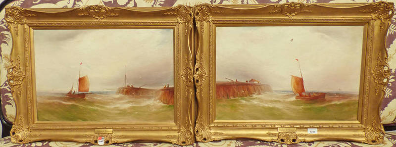 GUSTAVE DE BREANSKI, APPROACHING THE HARBOUR, SIGNED,