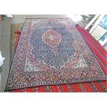 RED, BLUE AND BEIGE MIDDLE EASTERN STYLE CARPET,