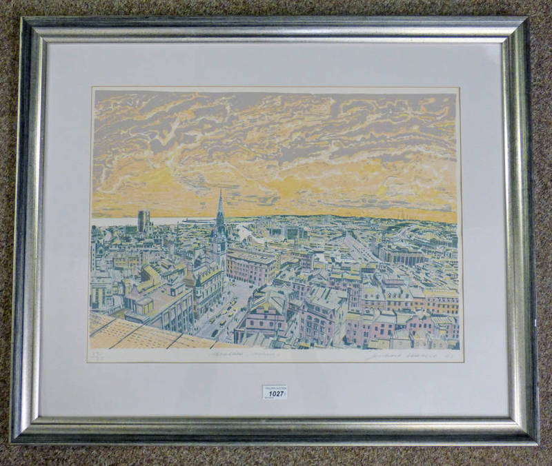 RICHARD DEMARCO, ABERDEEN MORNING, SIGNED IN PENCIL,