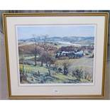MCINTOSH PATRICK AUTUMN FARMLANDS SIGNED FRAMED PRINT 41 X 53 CM
