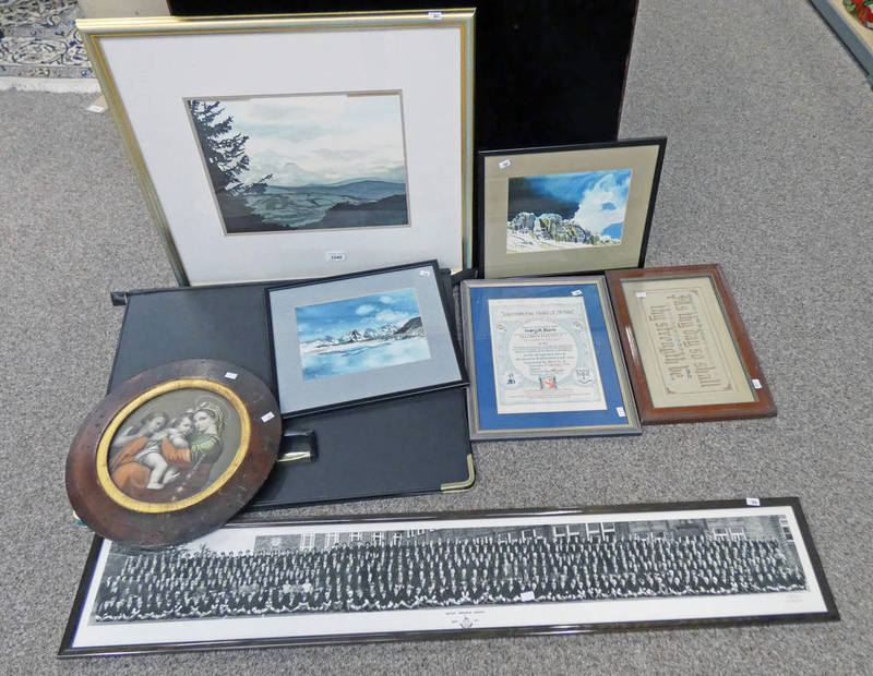 SELECTION OF VARIOUS FRAMED PICTURES TO INCLUDE SIGNED MARY-ANNIE BURNS WATERCOLOURS,