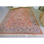 RED & ORANGE GROUND MIDDLE EASTERN STYLE CARPET 240 X 340CM